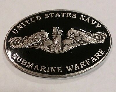 U.S. Navy Submarine Warfare Challenge Coin Enlisted ~ Bubblehead Silver Dolphins