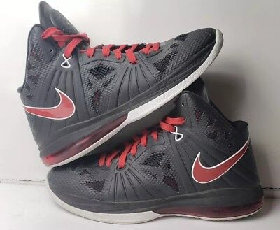 watch 2e7ec f43bd Pre Owned Nike Lebron 8 Ps Playoff Black Red White 441946-001 Size 9.5 No