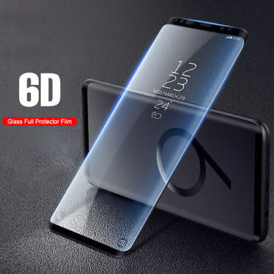 6D Full Cover Tempered Glass Screen Protector Samsung Note 9 S9 S8 Plus S7 9H+