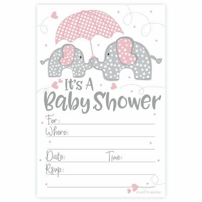 20 girl elephant baby shower invitation pink and gray chevron pink elephant girl baby shower invitations 20 count with envelopes filmwisefo