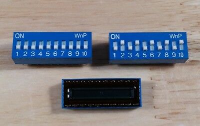 10pcs lot 10 position DIP switch, top adjust, sliding switches, 20 pin, SPST