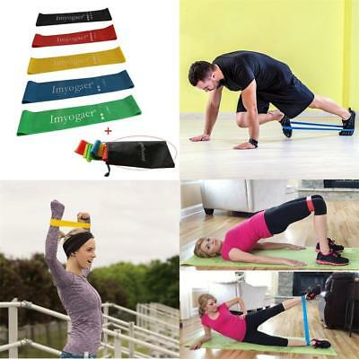 DE Resistance Loop Bands Rubber Mini Band Exercise Crossfit Strength Fitness Gym