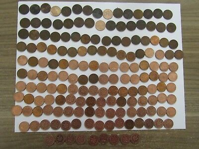 Lot of 592 Different Old Germany Coins - 1915 to 1996 - Circulated