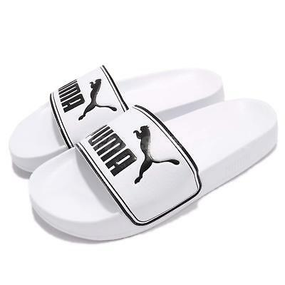 477881a8f89ab Puma Leadcat Big Logo White Black Men Sandal Slippers Slides 360263-08