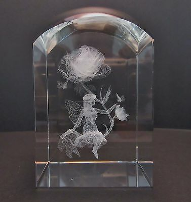 Fairy and Flower Dome Crystal 3D Laser Cut FREE SHIPPING