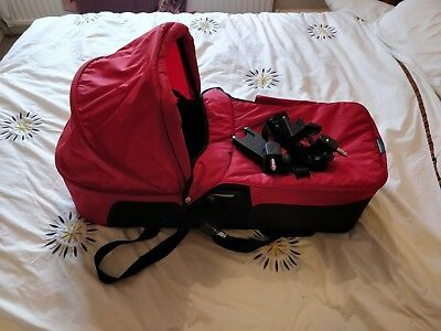 Baby Jogger Deluxe Pram Carrycot Bassinet Red