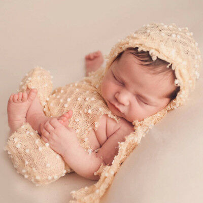 KF_ Cute Newborn Baby Crochet Knit Costume Photo Photography Prop Outfits Lot