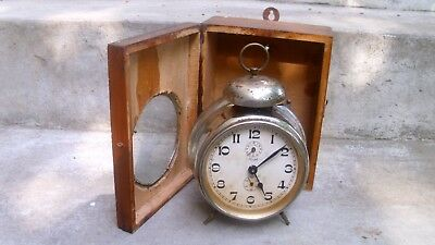 ANTIQUE VTG  Kienzle Gustav Becker Junghans Haller German  Alarm Clock