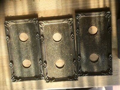 old antique switch plates and switches brass look metal plated spares or repairs