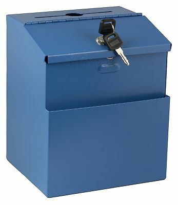 Adir Wall Mountable Steel Suggestion Box with Lock - Donation Box - Collection
