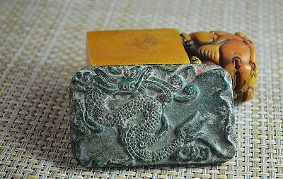 China's exquisite hand carving,dragon, jade ink stone  H009
