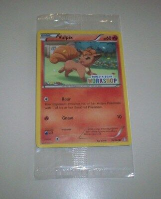 New in Sealed Package Build a Bear Pokemon Card ~ Vulpix