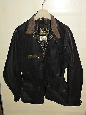 barbour international jacket waxed cotton   100%authentic c46/117  xl