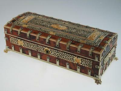 Antique 19th Century Faux Tortoiseshell Box Circa 1880