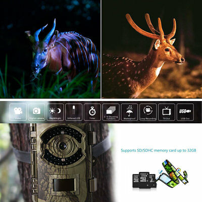 Game Trail Hunting Camera 16MP 1080P HD Infrared Night Vision Scouting Camera OY