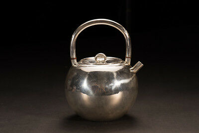 Japanese collection tea kettle made by pure silver/ Teapot