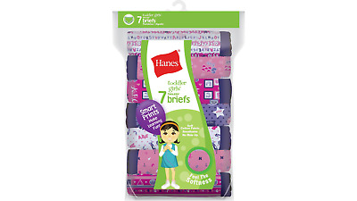Hanes Tagless Toddler Girls Days of the Week Cotton Briefs 7-Pack #GTHMT7
