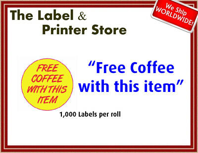 """Free Coffee with this item"" Labels"