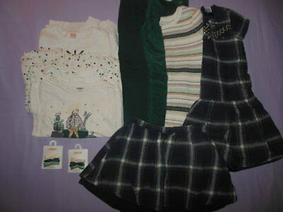 Girls Gymboree All Spruced Up Lot Size 10 Dresses,Skirt,Sweater,Leggings,HairBow