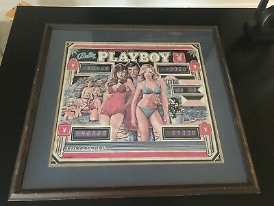 Playboy Pinball Machine Bally 1978 Promo Poster Near Mint with Hugh Hefner
