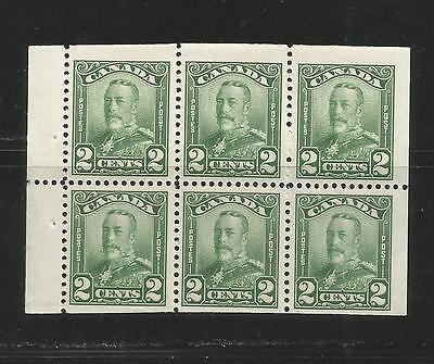 2c  KG V SCROLL  BOOKLET PANE OF 6     #150a  MNH  *3