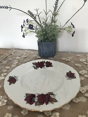 Christmassy Royal Vale Red Rose Sandwich Plate