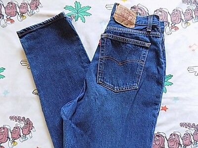 Vtg 80's Levi's 17501 0158 high waisted tapered Jeans 30x31 button fly 501 baggy