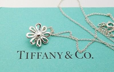 4a4880bb7 Tiffany & Co Sterling Silver Paloma Picasso Daisy Flower Necklace Chain 18