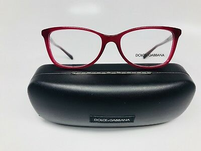 e44fa674b5 NEW DOLCE   Gabbana DG 3219 2681 Opal Red Eyeglasses 53mm with Case ...