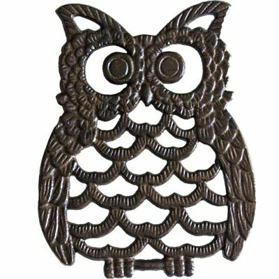 Cast Iron Owl Trivet - Decorative Trivet For Kitchen Counter or Dining Table