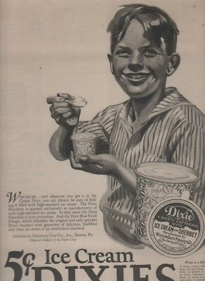 5 Dixie Cup Ads Ice Cream Dixies + Vintage Dixie Lid