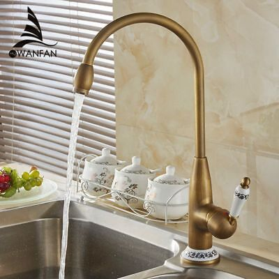 Antique Bronze Faucet For Kitchen Mixer Tap With Ceramic Crane Cold&Hot Sink Tap