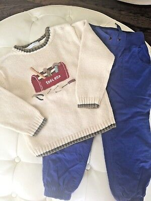 Janie and Jack/Hanna Andersson Boys Sweater and Pant Set- 4T-5T