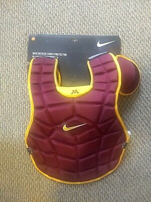 """Minnesota Golden Gophers Baseball Nike 18"""" Catchers Chest Protector Red Yellow"""