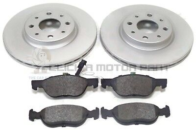 Fiat Punto Mk2 1.4 16V Sporting Front 2 Vented Brake Discs And Pads Set New