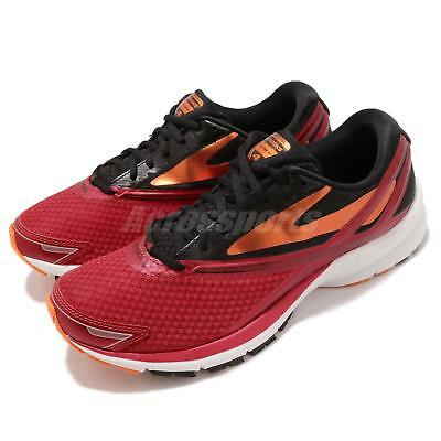 fa8666433eab Brooks Launch 4 Red Black Orange Men Running Training Shoes Sneakers 110244  1D