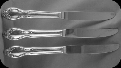 """Rogers Bros Silvery Mist 8 1/2"""" Dinner Knives 3"""