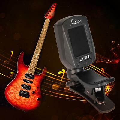 Rowin LT-23 Acoustic Guitar Rotatable Clip-on Tuner LCD For Bass Violin Ukulele
