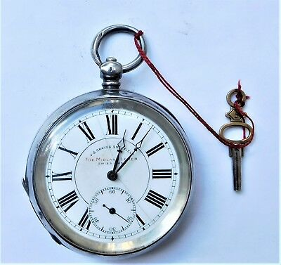 NO RESERVE c1910 Gents Silver Pocket Watch Vintage Antique