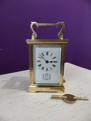 English Carriage Clock Rare Special Ltd Run For Queens Silver jubilee Restored