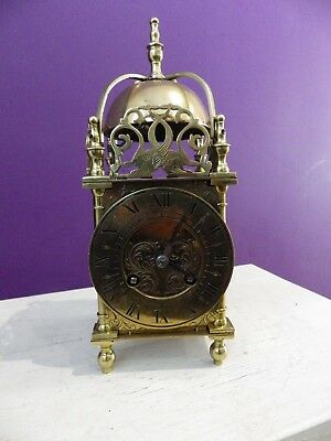 French Striking Lantern Clock Fully Serviced Movement Circl 1900