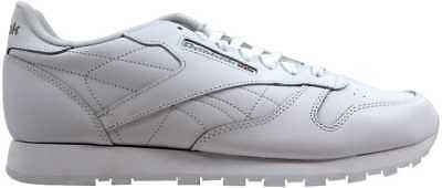 Reebok Classic Leather White/White-Light Grey 9771 Men's SZ 12.5