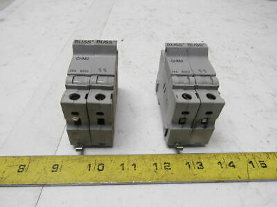 Buss/Bussmann CHM2 Fuse Holder/Block 30A 600V 2-Pole Rail Mount Lot of 2