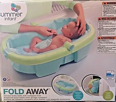 Infant Baby Folding Compact Bath Tub by Summer. Suitable from birth to two years