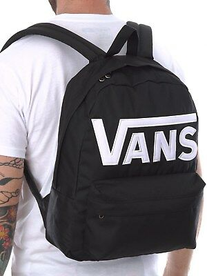 Skool Backpack White New Checkerboard Ii Black Old Skate Vans Zaino YwPxU5tM
