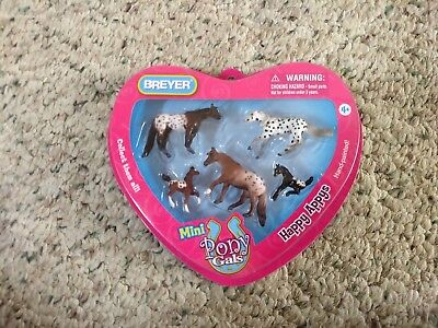Breyer No. 7152 Happy Appys Mini Pony Gals heart shaped box NRFB see description
