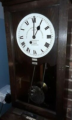 1900's antique clocking in machine with fusee movement