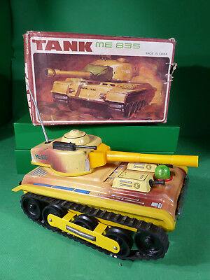 China ME 835 Tinplate Tank in Box - Blechspielzeug Panzer 22cm in Box