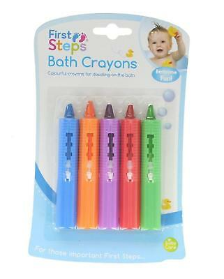 Baby Toddler Washable Bath Crayons Fun Play Educational Toy 5 Piece