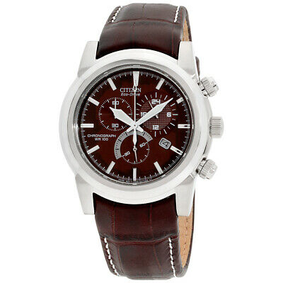 Citizen Chandler Brown Dial Leather Strap Men's Watch AT0550-11X